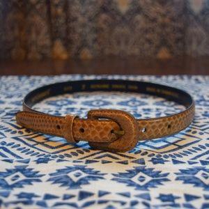 VTG Harve Bernard snakeskin belt